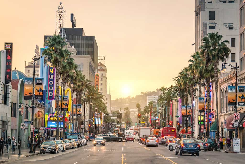Hollywood main street Los Angeles