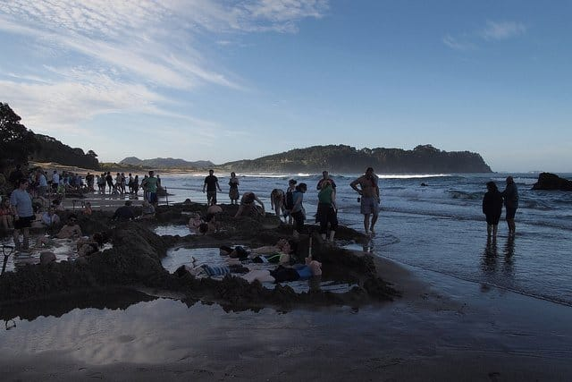 Hot Water Beach, New Zealand - world's strangest beaches on GlobalGrasshopper.com