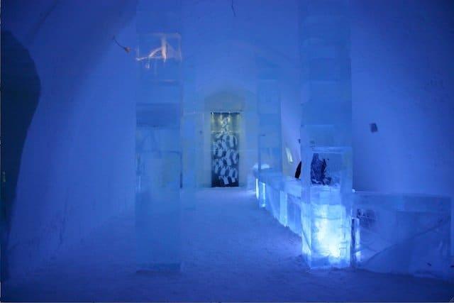 Ice Hotel Lobby - unusual hotels on GlobalGrasshopper.com