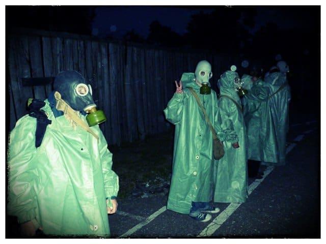 Inmates in Gas Masks, Karosta Prison, Latvia on GlobalGrasshopper.com