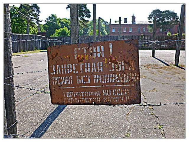 Karosta Prison Sign, Karosta Prison, Latvia on GlobalGrasshopper.com