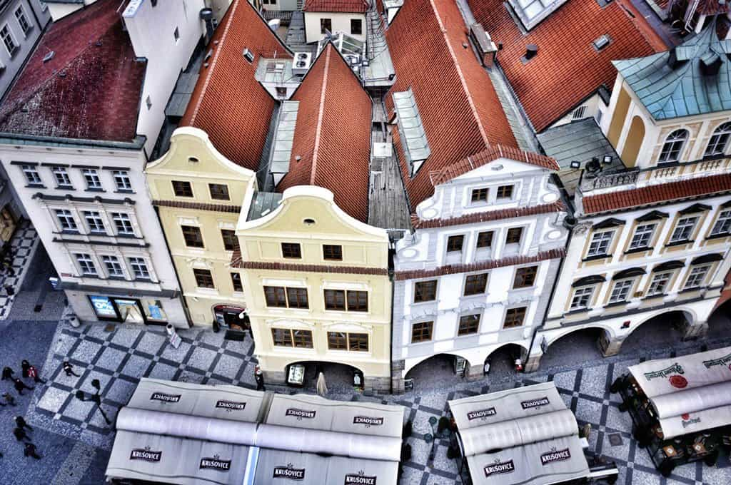 Looking Down on Old Town Square, Prague