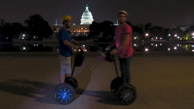 Segways at night