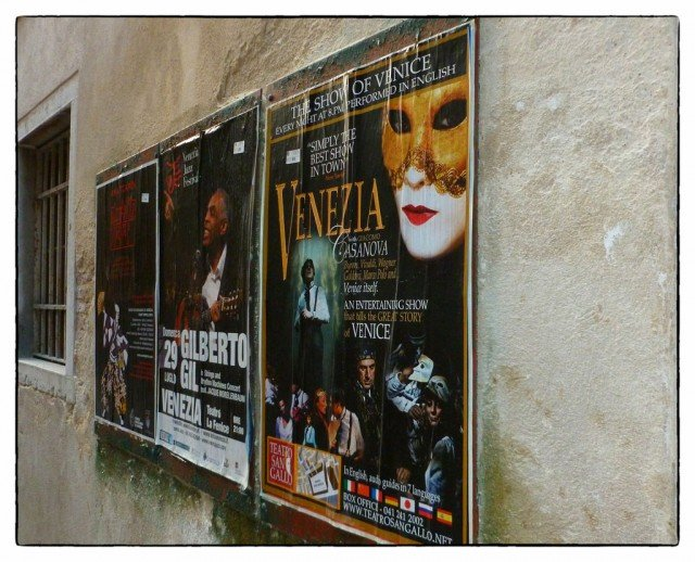 Venice Opera posters - What to see and do in Venice on GlobalGrasshopper.com