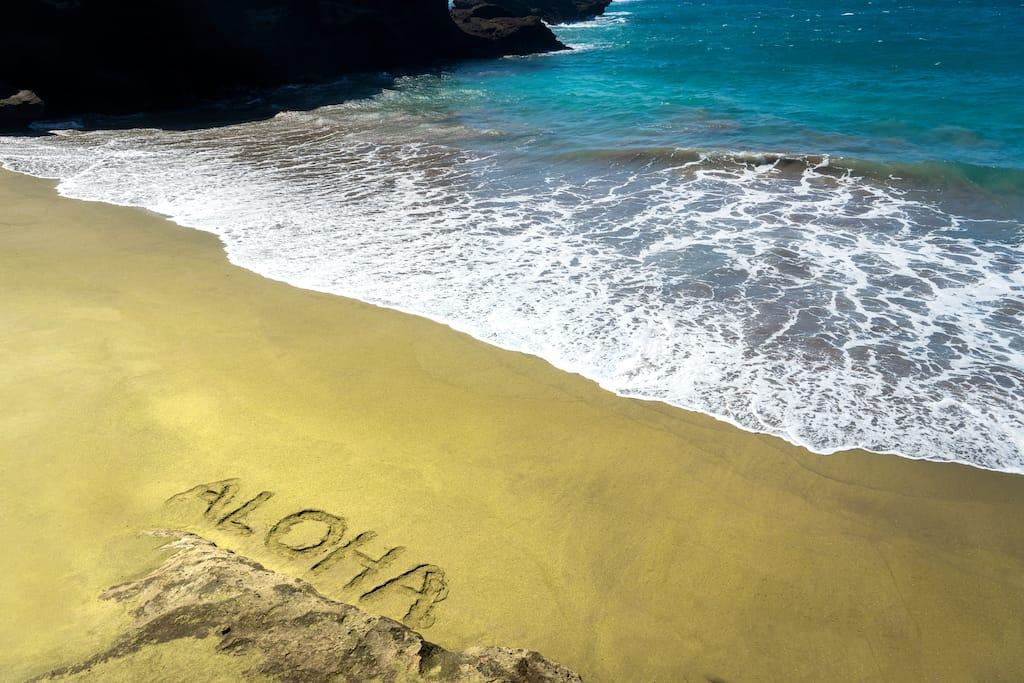 Green Papakolea Beach