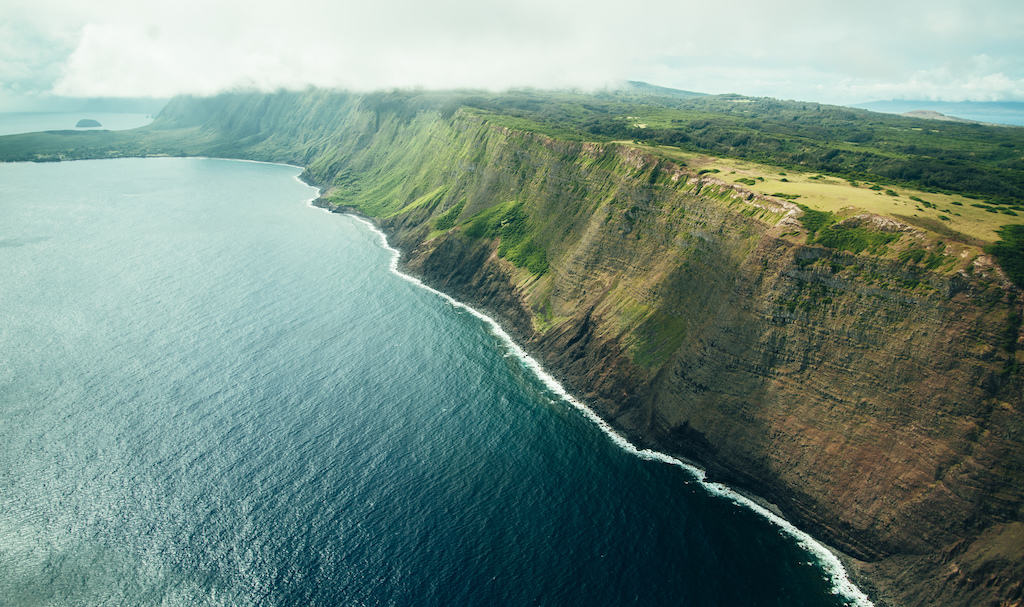 Molokai sea cliffs Hawaii