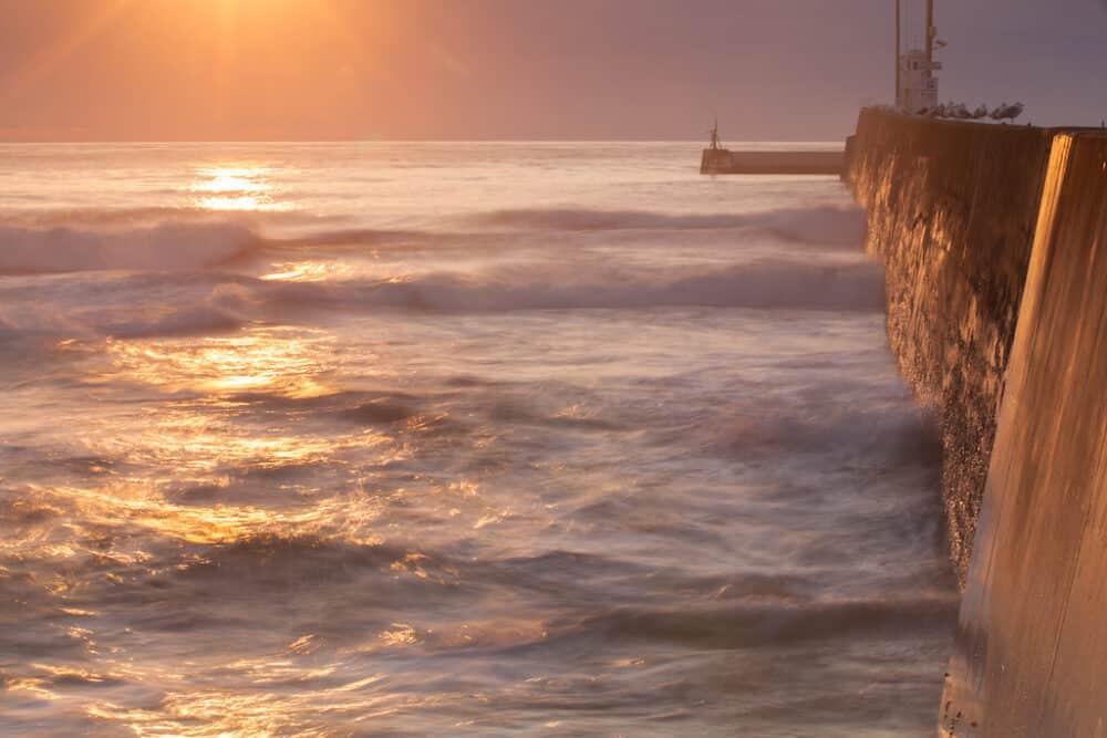 Seahouses coast England