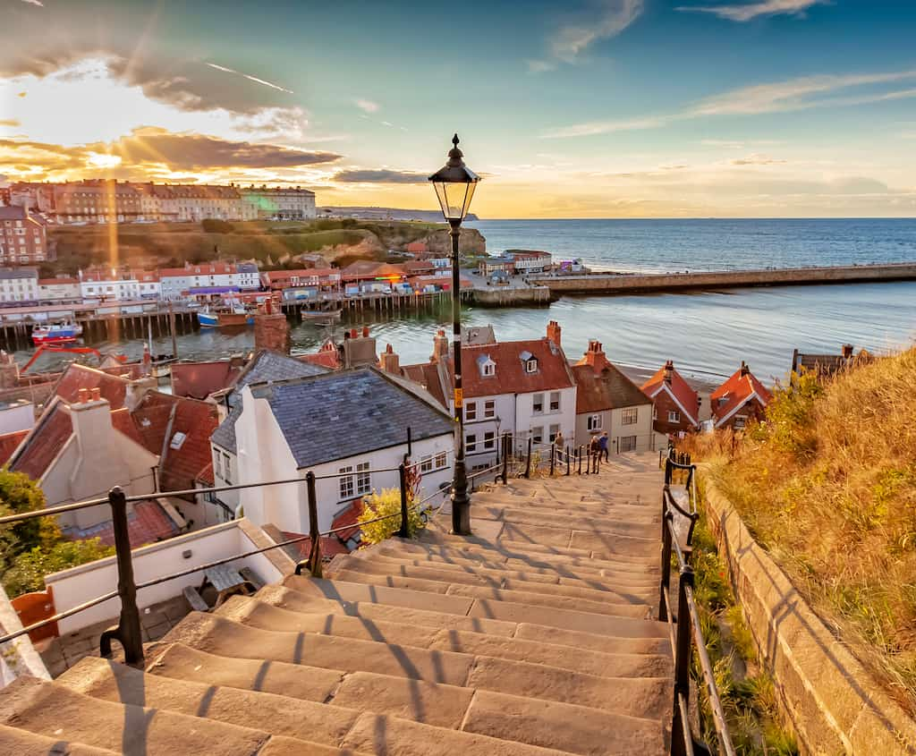 Whitby seaside town Yorkshire