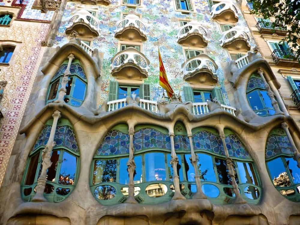 Beautiful Casa Batlló in Barcelona Spain