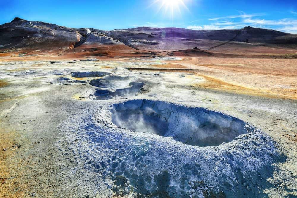 landscape of Hverir Iceland