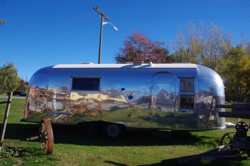 Airstream trailer campsite