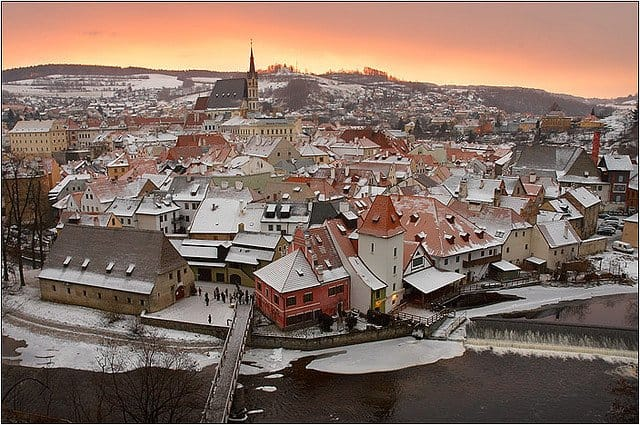 Ceský Krumlov Christmas winter on GlobalGrasshopper.com