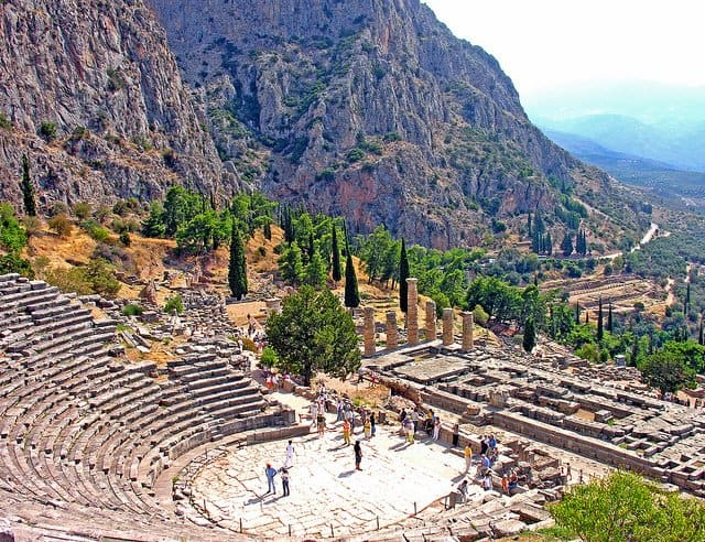 Delphi Theatre -most beautiful places to visit in Greece on GlobalGrasshopper.com