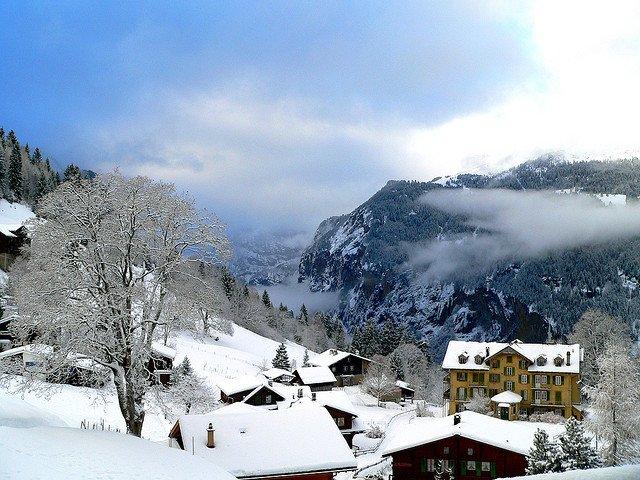 Wengen Switzerland in winter on GlobalGrasshopper.com