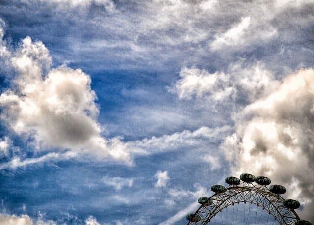 London Eye and Sky
