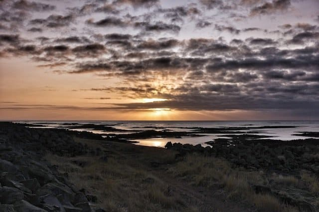 Stokkseyri View Coastline Iceland
