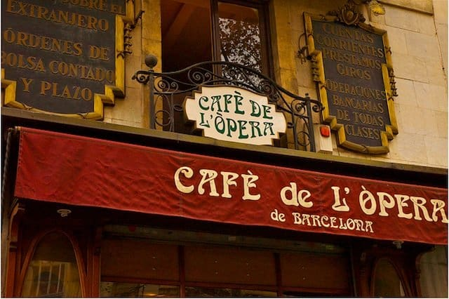 best historic cafes Barcelona