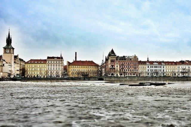 Beautiful river in Prague