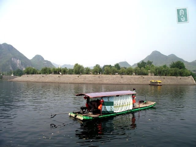 Colourful boats in Bian Cheng