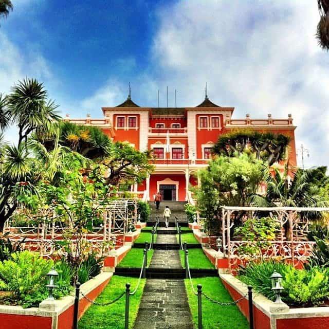The orange house at Liceo Taoro - La Orotava, Tenerife