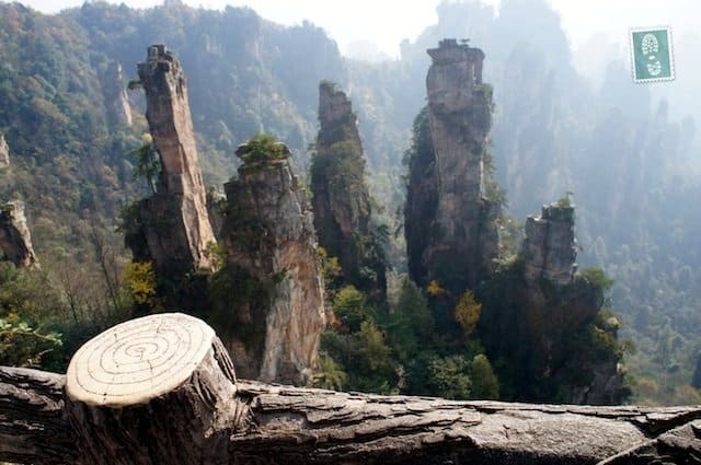 The view from the top of Zhangjiajie mountains