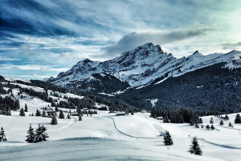 Villars Switzerland Skiing