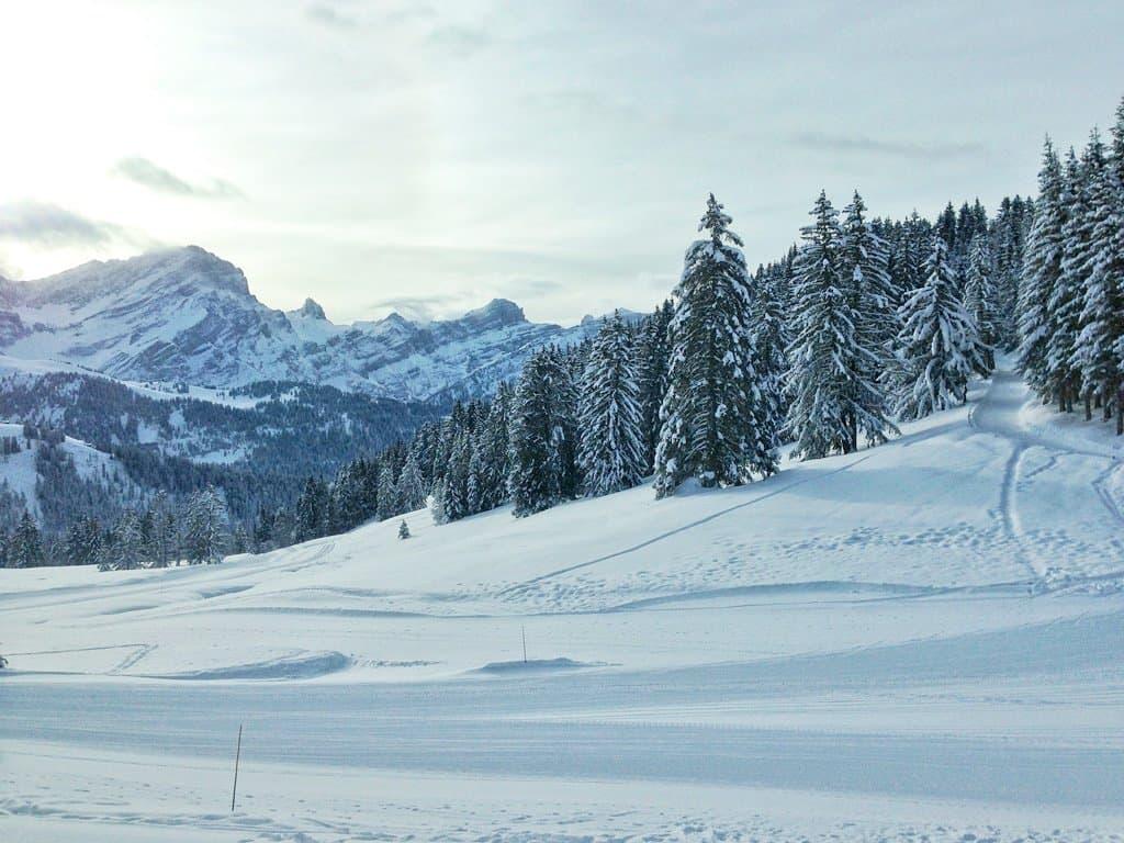 Villars ski slopes