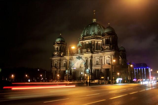 Berlin Building at night