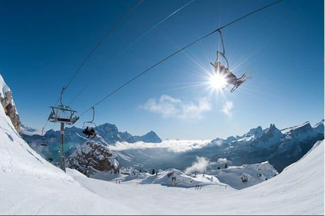 Skiing at Cortina d'Ampezzo Italy