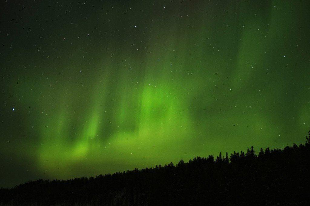 Northen Lights dark Finland