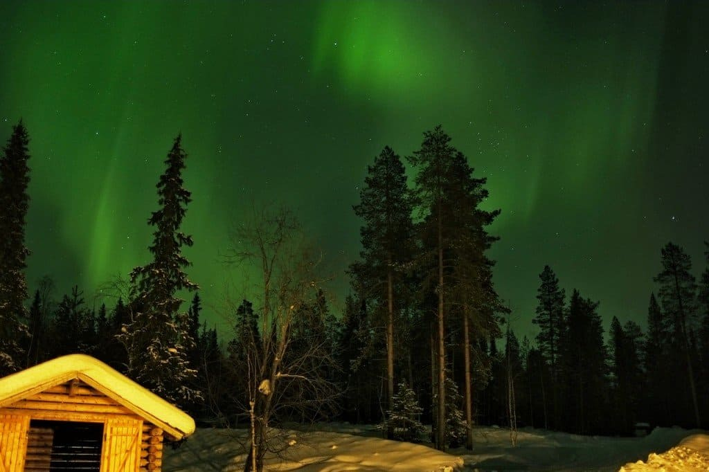 Beautiful Northern Lights Finland