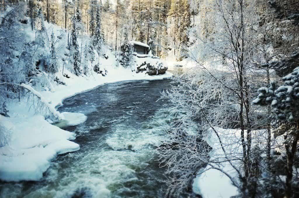 River Finland Finnish Lapland
