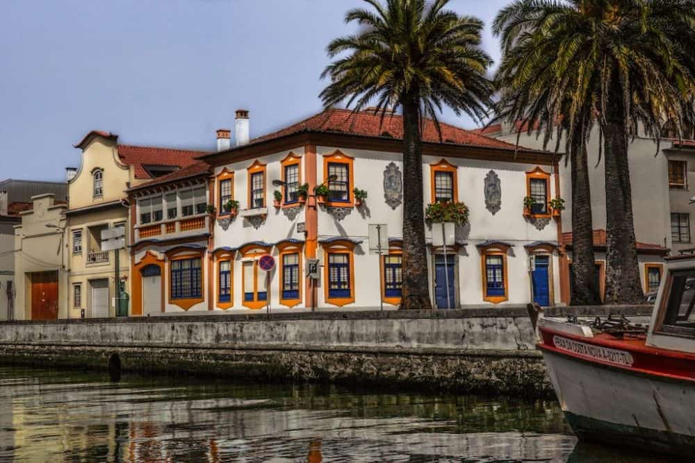Beautiful buildings in Aveiro, Portugal