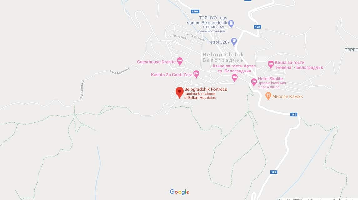 Maps - Belogradchik Fortress in Bulgaria