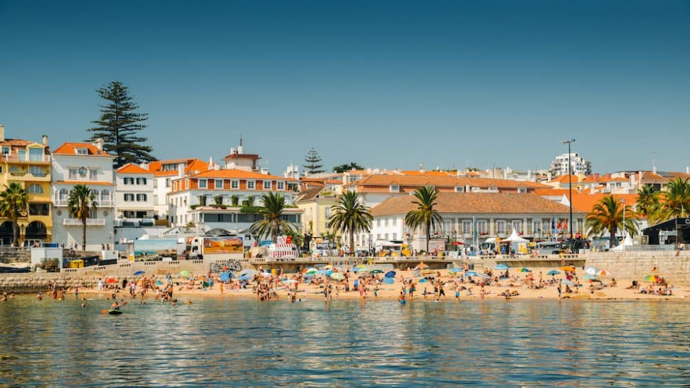 Cascais beach - one of the best places to visit in Portugal