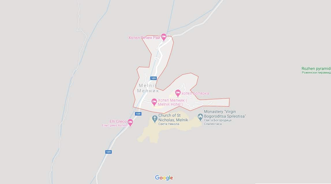 Map - where to find Melnik in Bulgaria