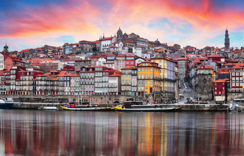 Beautiful view of Porto, Portugal