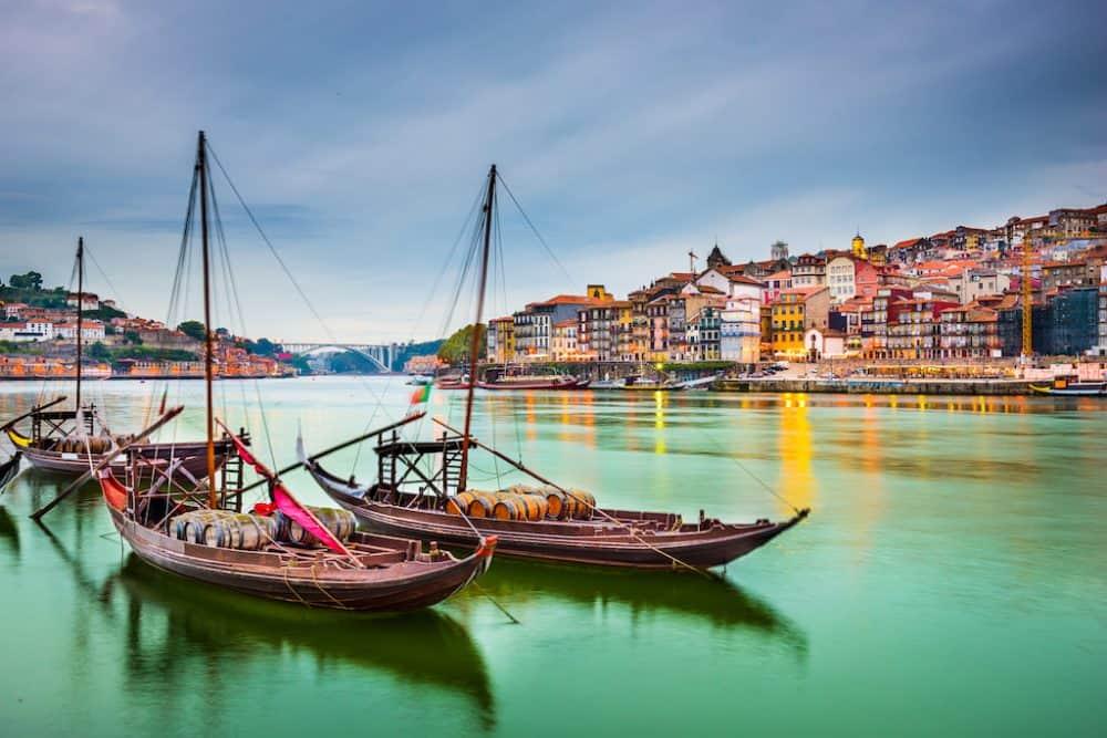 Pretty harbour in Porto