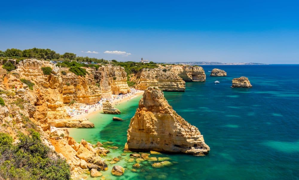 Praia da Marinha - most beautiful beach in Portugal