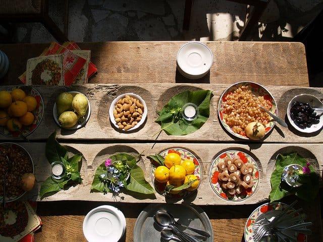 Meze dinner in Cyprus
