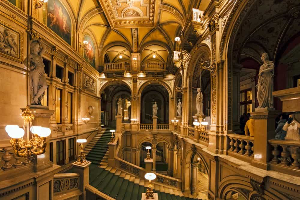 Beautiful opera house in Vienna