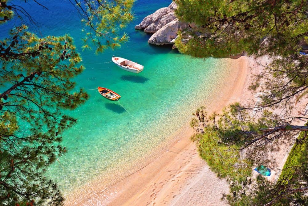 Brela Beach Croatia - beautiful places to visit in Croatia