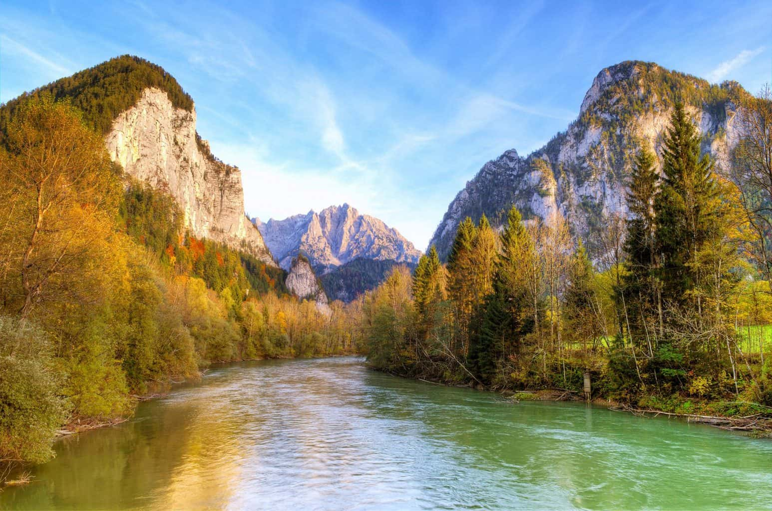 Gorgeous views of Gesaeuse National Park Austria