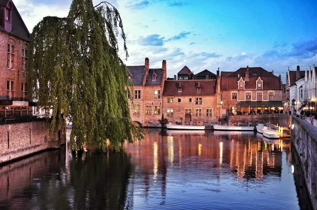 Beautiful Brugge at dusk