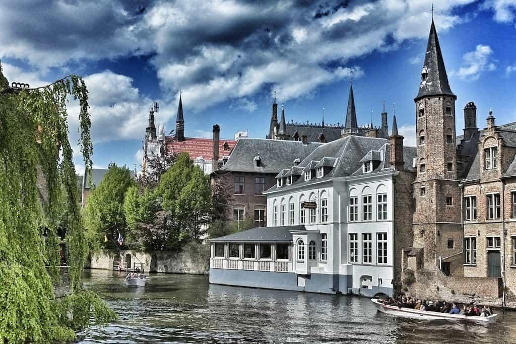 Brugge river boat