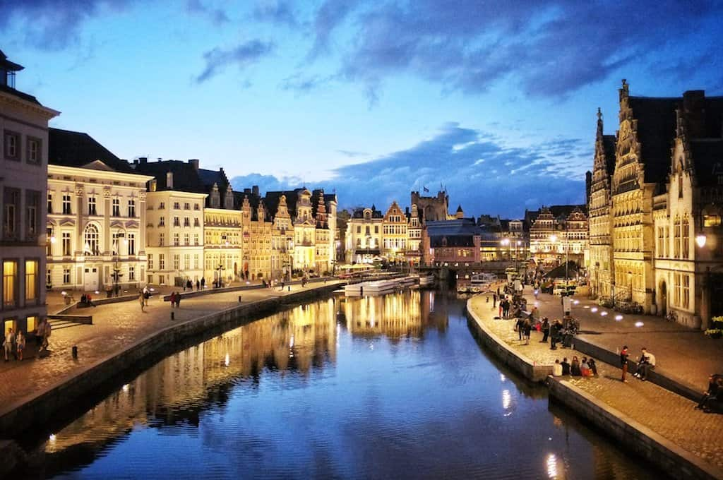 Ghent Belgium at night