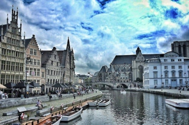 Ghent Canal and sky