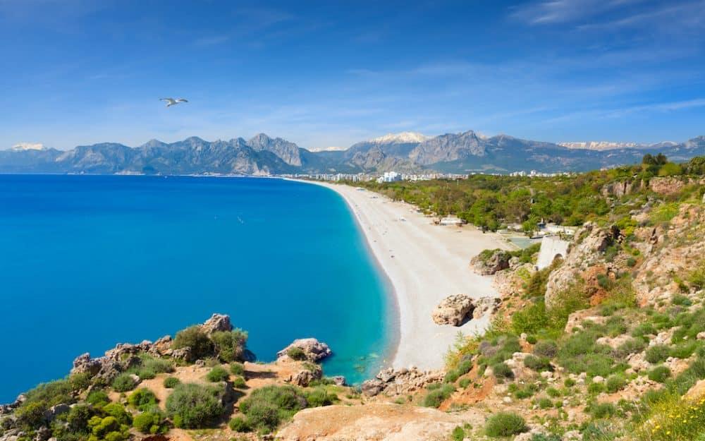 Konyaalti Beach in Turkey