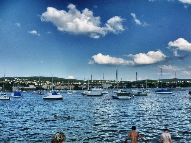 Boats Lake Zurich