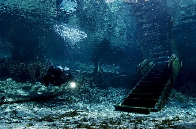 Cave Diving, Ginnie Springs, Florida